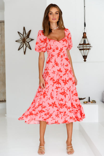Everything I Dreamed Of Midi Dress Hot Pink