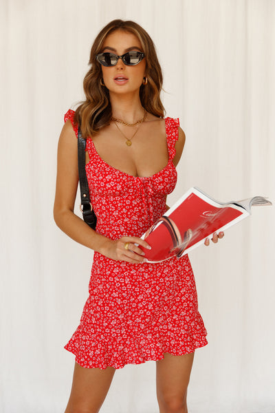 Misty Fountains Dress Red