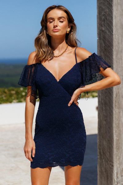 In My Favour Dress Navy