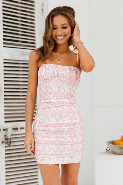 Joined At The Hip Dress Pink | Hello Molly USA