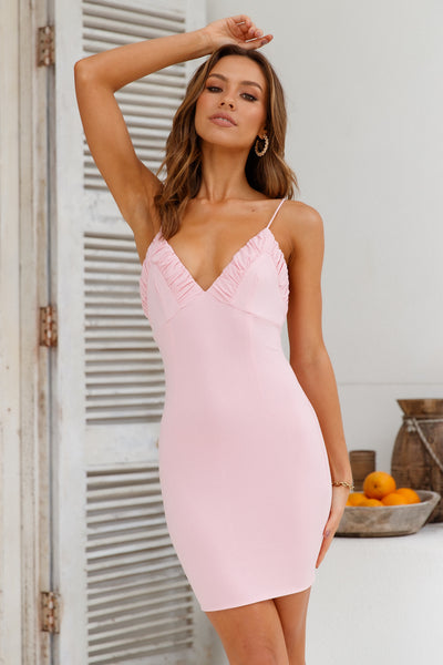 Capture This Moment Dress Baby Pink