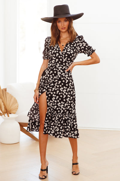 Need Some Company Midi Dress Black | Hello Molly USA