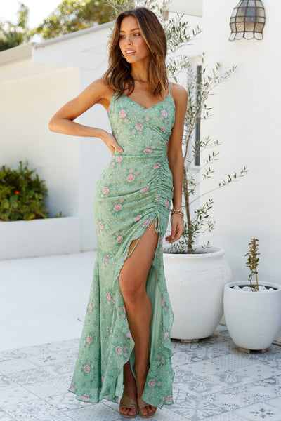 HELLO MOLLY Know My Worth Maxi Dress Green
