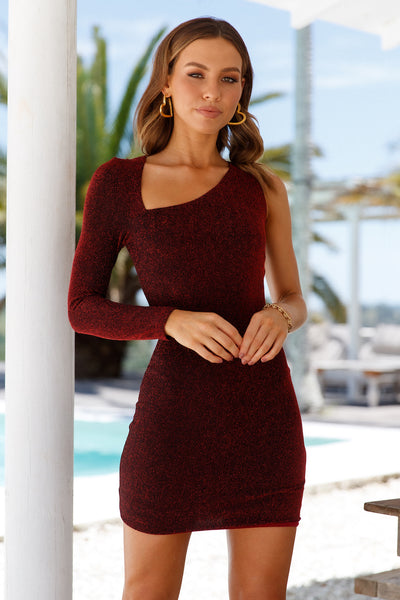 Shake It Dress Burgundy