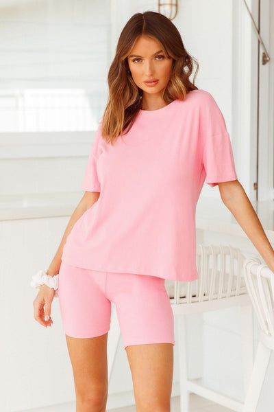 HELLO MOLLY Rest Your Eyes Tee Candy Pink