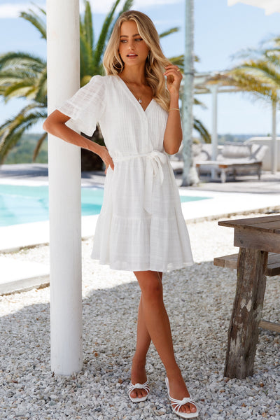 Girly Drinks Dress White