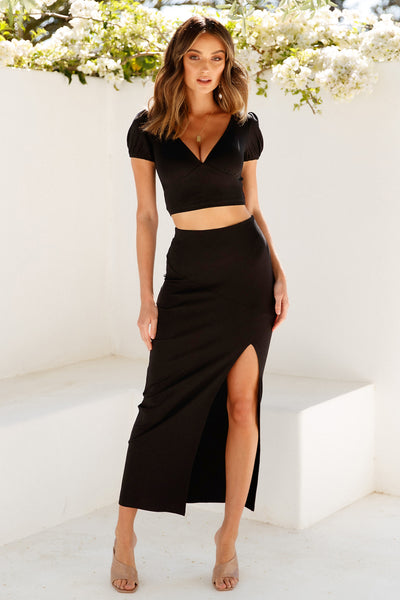All Just An Act Maxi Skirt Black