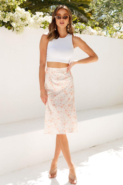 And Voguing Midi Skirt Pink