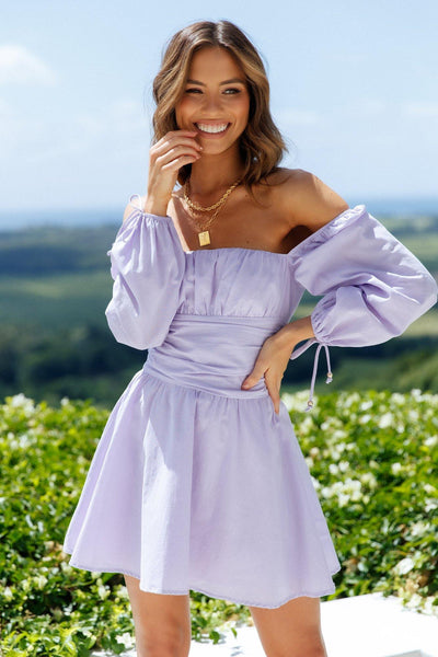 HELLO MOLLY Pantheon Dress Lilac