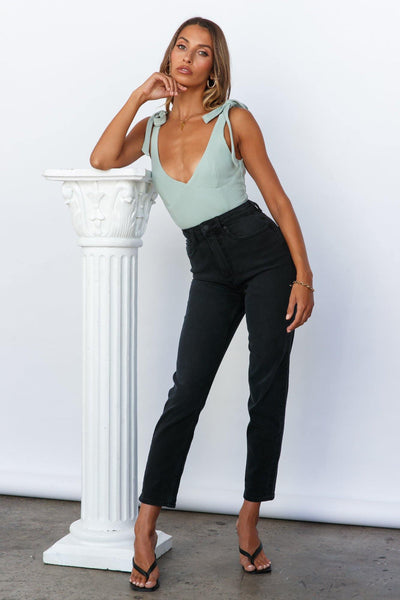 LEE Hourglass High Moms Jeans Black Ash