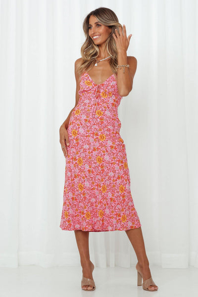 Spread The Word Midi Dress Pink