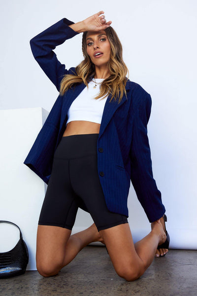 LIONESS Lion's Den Blazer Midnight Pinstripe | Hello Molly USA