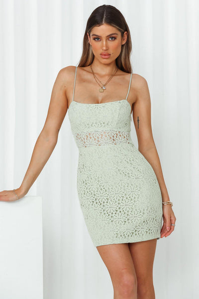 Line Up Dress Mint