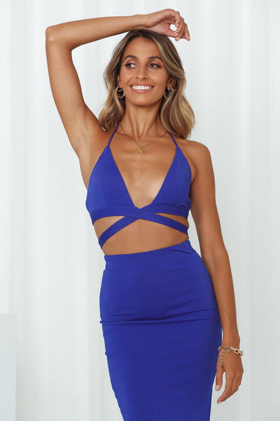 Fireworks Bralet Royal Blue
