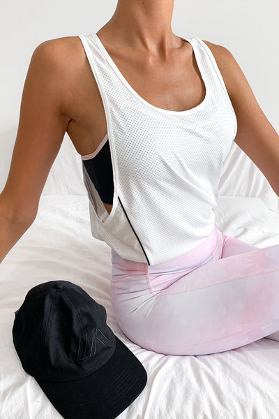 ELETTE FIT Further Than Before Sports Tank White