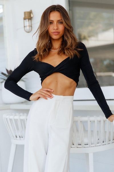 Ginny Crop Top Black