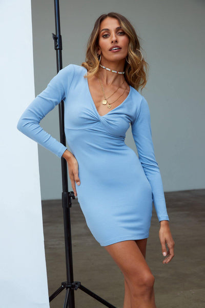 Happy Hour Time Dress Blue | Hello Molly USA