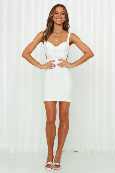 Wine and Sip Dress White