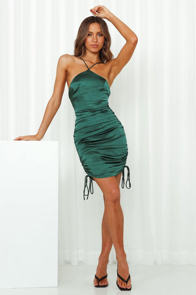 Show Must Go On Midi Dress Green