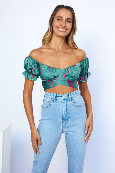Nail It Crop Top Sage