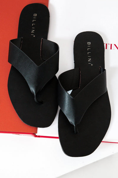 BILLINI Gray Slides Black