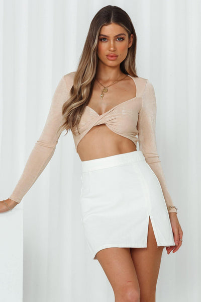 Ginny Crop Beige | Hello Molly USA