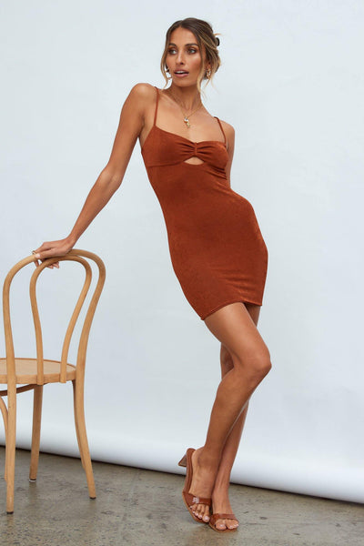 Vacation Mode Dress Brown | Hello Molly USA