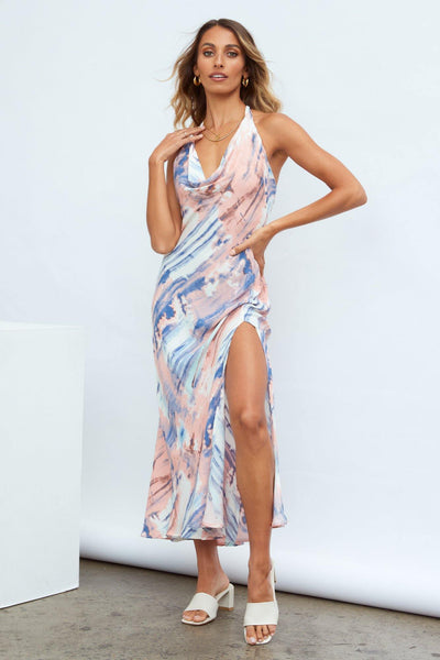 Tiara Fun Maxi Dress Blue | Hello Molly USA