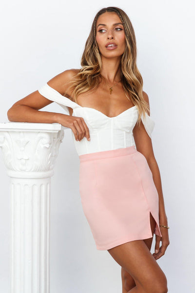 Step It Up Mini Skirt Pink | Hello Molly USA