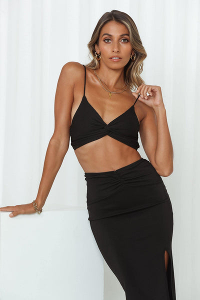 Teenage Fever Bralet Black