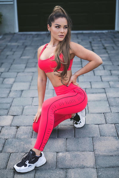 ELETTE FIT New Records Leggings Fuchsia