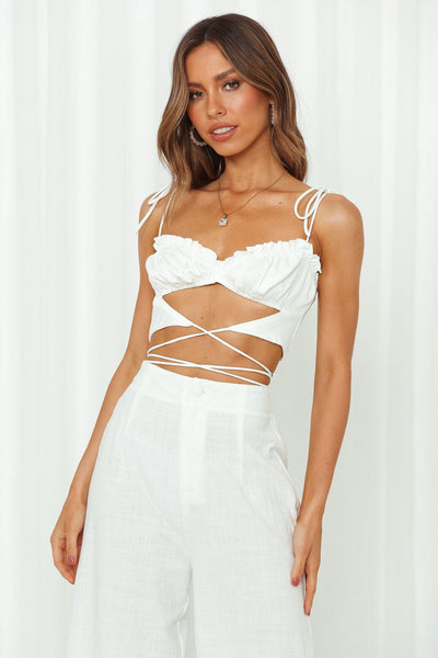 Bahama Fun Crop White
