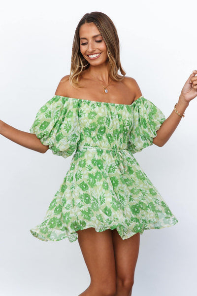 Challenge Your Faith Dress Green