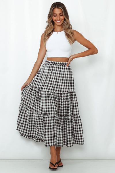 Looking For Fun Maxi Skirt Black