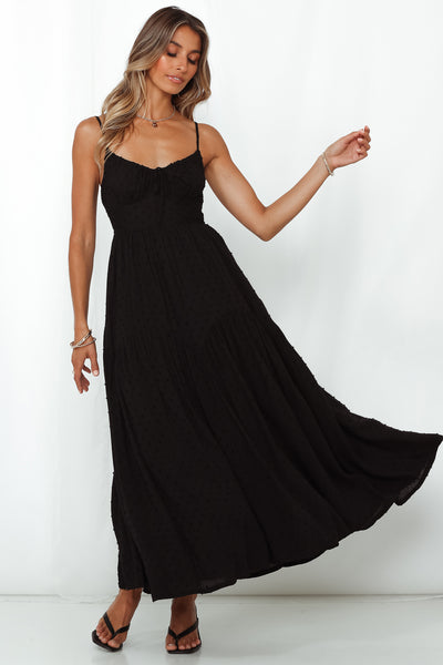 Chain Of Daisies Maxi Dress Black
