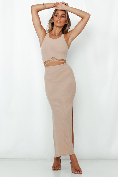 Up Early Maxi Dress Mocha