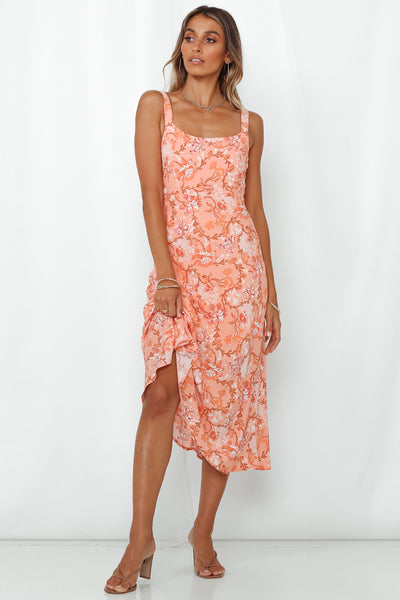 Future Dreams Midi Dress Peach