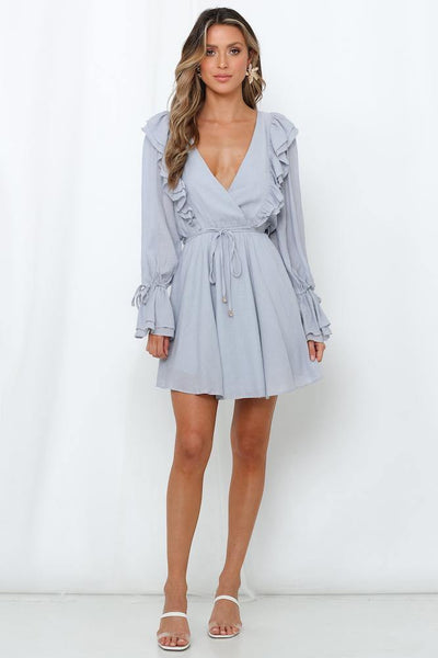 Down In The Bronx Dress Grey | Hello Molly USA