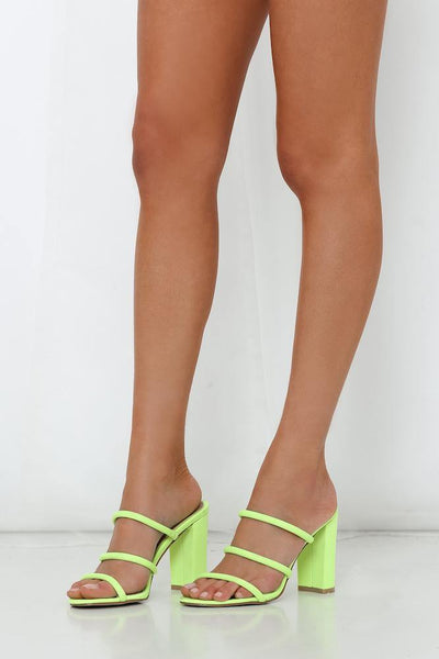 BILLINI Elida Heels Neon Yellow