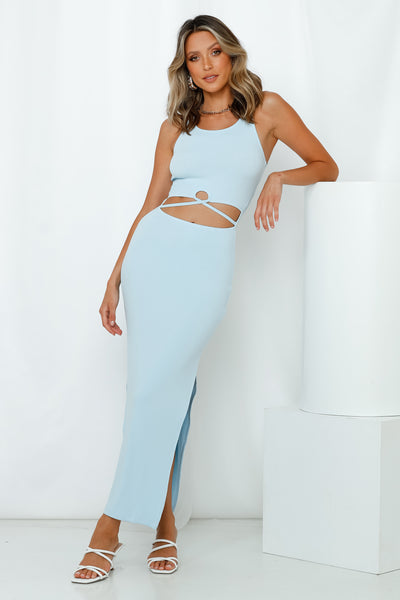 Up Early Maxi Dress Blue