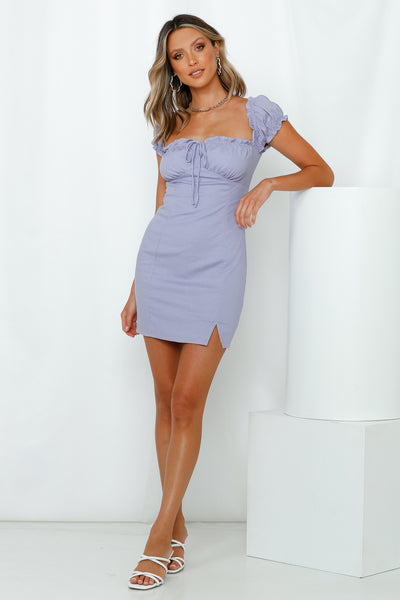 Keeping My Fingers Crossed Dress Lilac
