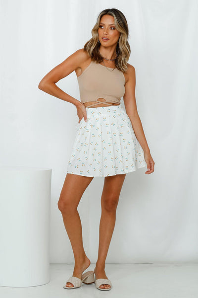Steal Your Heart Skirt White