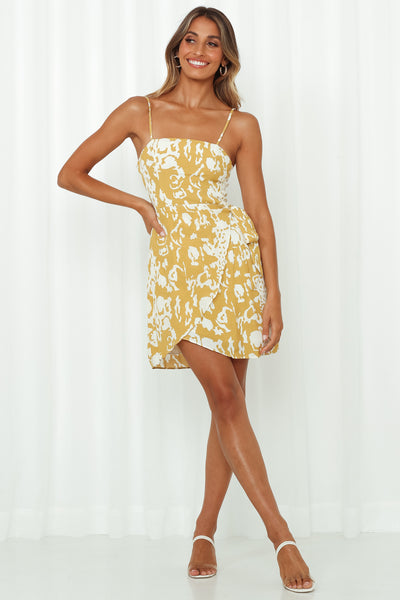 Wild Friend Dress Mustard