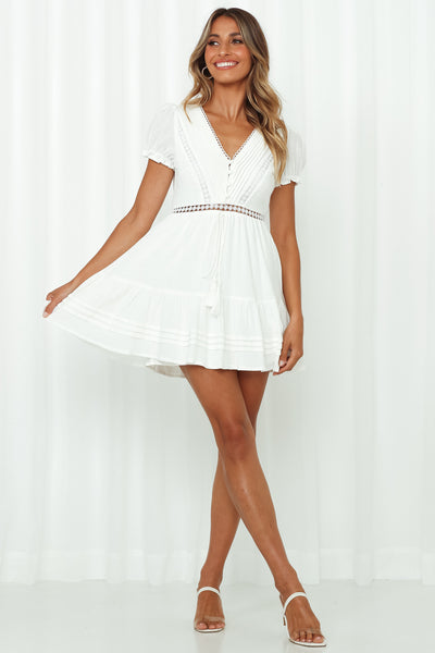 Found Love In Barcelona Dress White