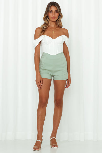 Abbey Girl Shorts Sage