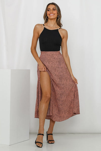 Starts With You Midi Skirt Pink