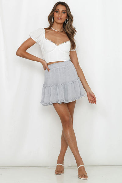 Blinded By The Light Skirt Grey