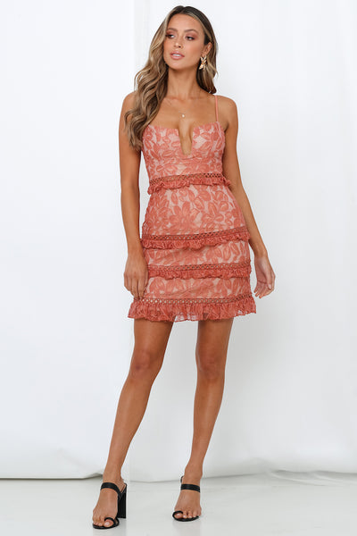 Ninety-Nine Miles Dress Rose