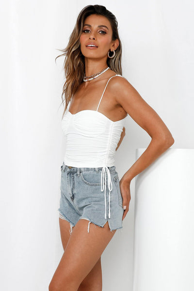 Playing For Keeps Crop Camisole White