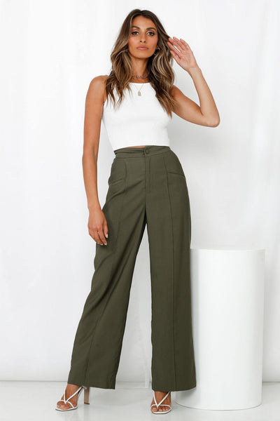 MOSSMAN Addicted To You Pants Khaki